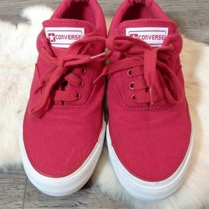 Converse Skate Shoe Red & White Size 9